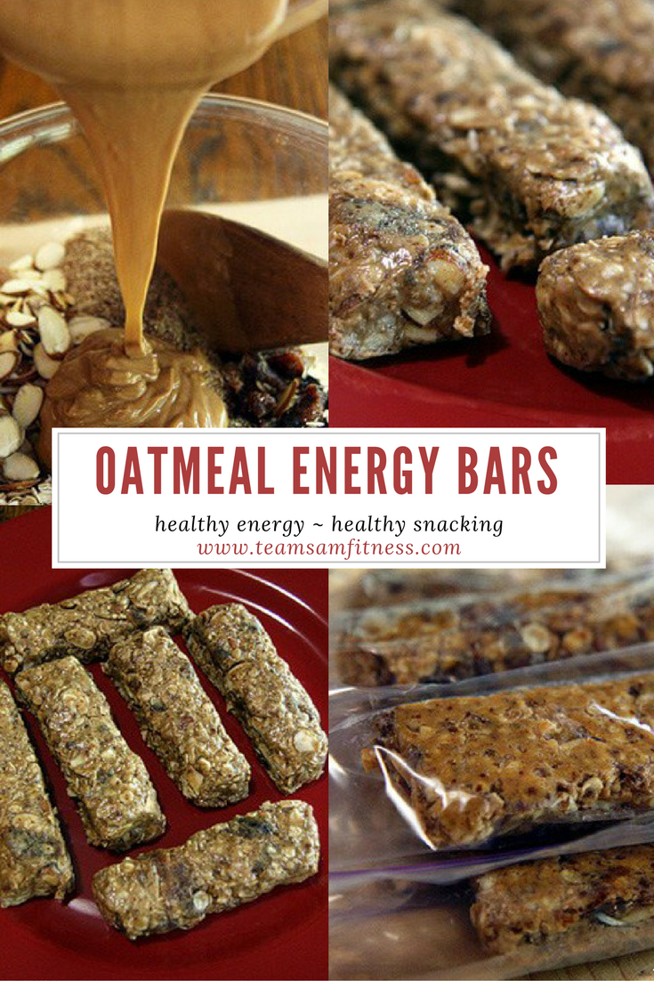 Oatmeal Energy Bars TeamSam Fitness