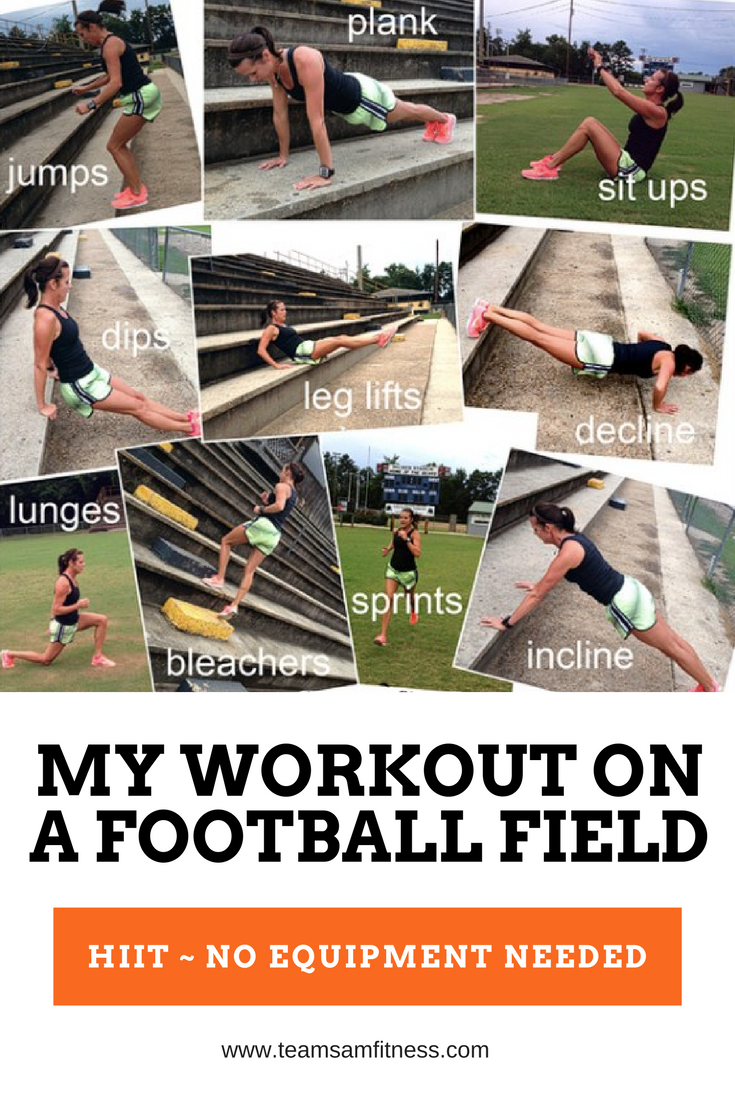 Football Field Workout TeamSam Fitness