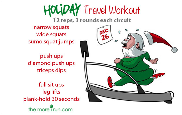 No equipment needed for this Holiday Travel Workout!