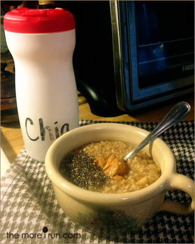 Use an empty coffee creamer container to store and pour your chia seeds!