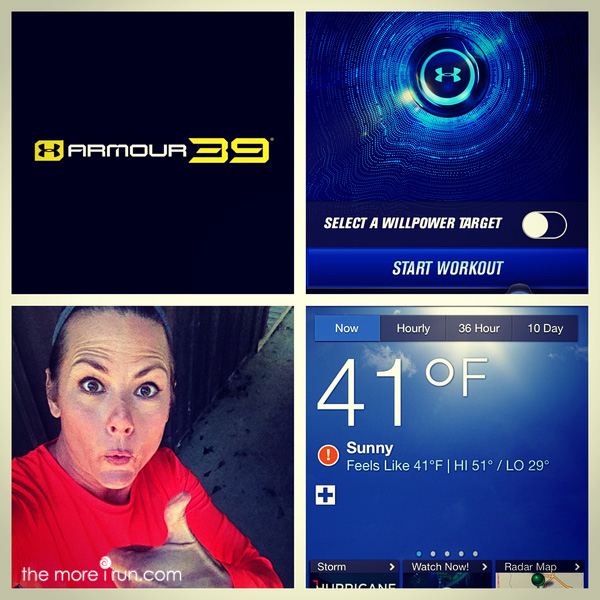 Perfect weather for an outdoor workout!