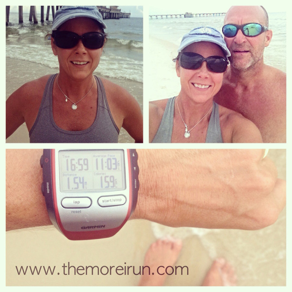 We ran 1 1/2 miles along the shoreline, barefoot and with calves burning…and it was oh so good!