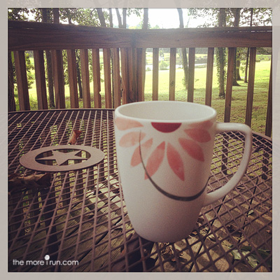 I could enjoy my morning coffee like this every morning.