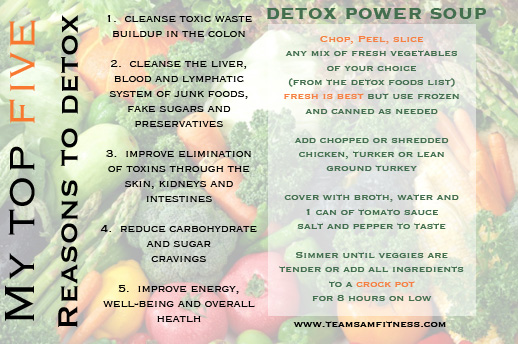 My Top 5 Reasons to Detox