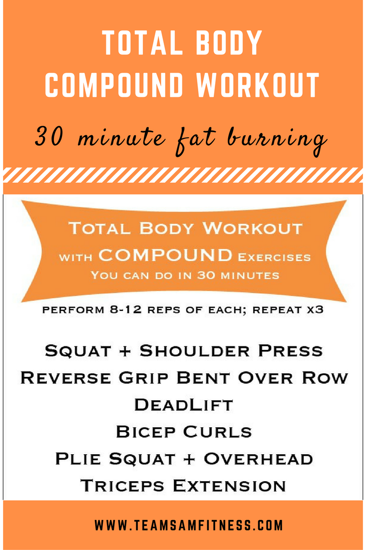 Short on time and don't have or even want to spend hours in the gym or working out?  Try compound moves to shorten your workout, (but still be very effective), get your heart rate up for a good metabolic burn, burn fat and build muscle.