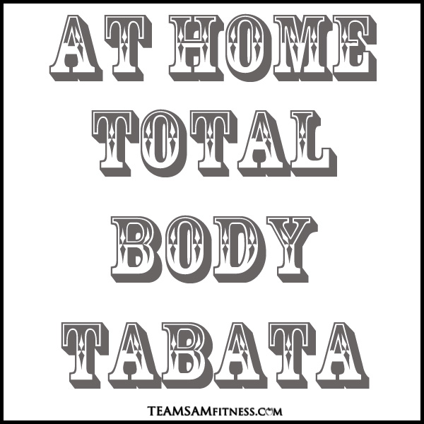 20 minute, no equipment needed- total body tabata to get your heart rate up and your muscles burning. This is perfect for when you're short on time and still want to get in a good fat burning, metabolic workout.