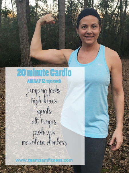Cardio AMRAP to improve your heart health!