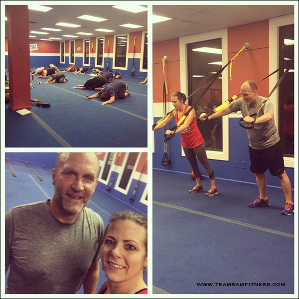 A couple that boot camps together stays together!