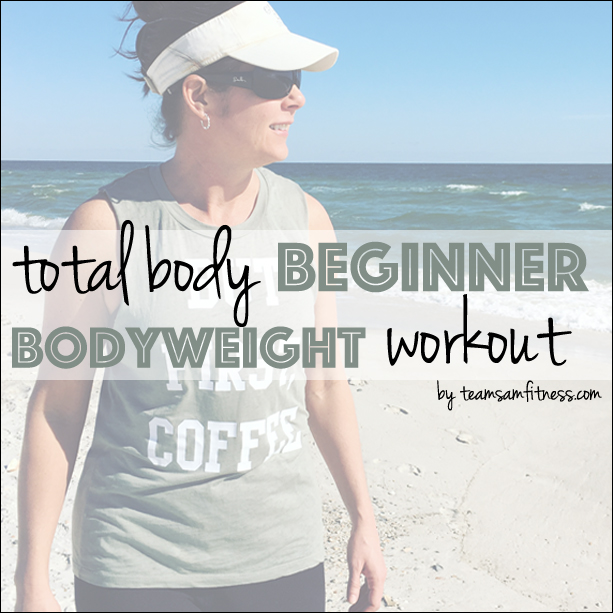 A bodyweight only workout for beginners! While cardio is important for building endurance and improving heart health, resistance based workouts build strong bones, increase metabolism and burn fat!