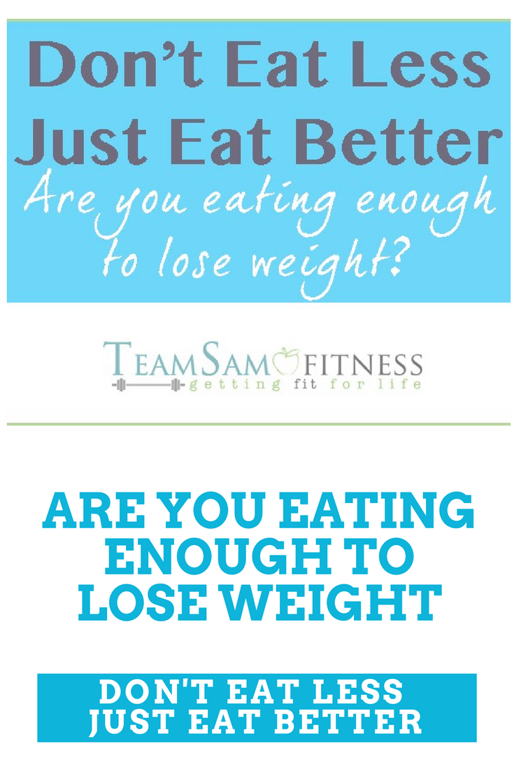Are you eating enough to lose weight? TeamSam Fitness