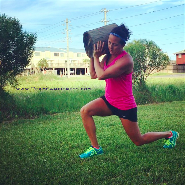 outdoor workout walking lunges by teamsamfitness.com