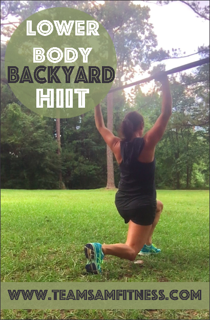 Lower Body Backyard HIIT