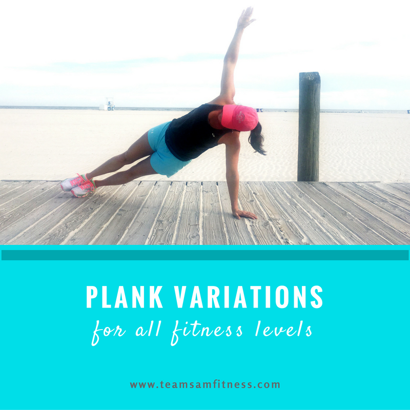 Plank variations for all fitness levels!