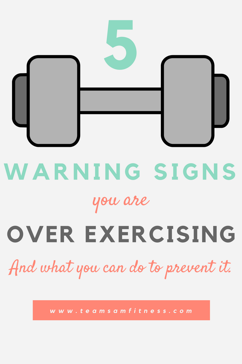 Warning signs of over exercising and what you can do to prevent it.