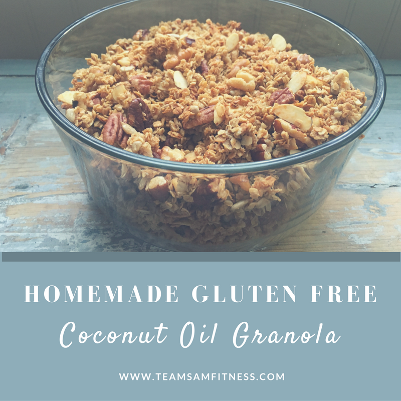 Consider yourself warned. This homemade gluten free granola is seriously addicting. Eat it by the spoonfuls, handfuls or bowlfuls. It's super quick and easy to make, too.
