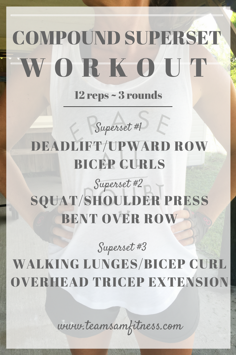 Compound exercises are beneficial in increasing your workout efficiency, and burning more calories and fat!