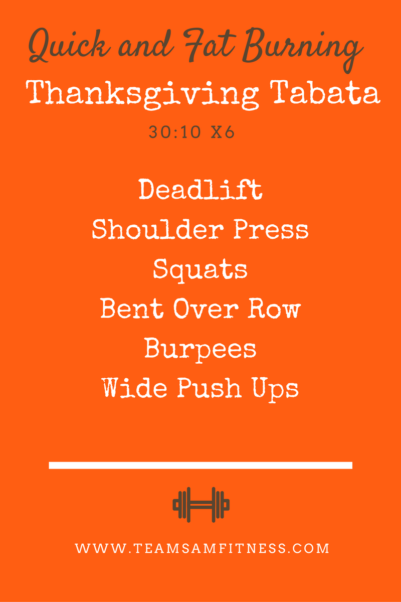 A Quick + Fat Burning Thanksgiving Tabata
