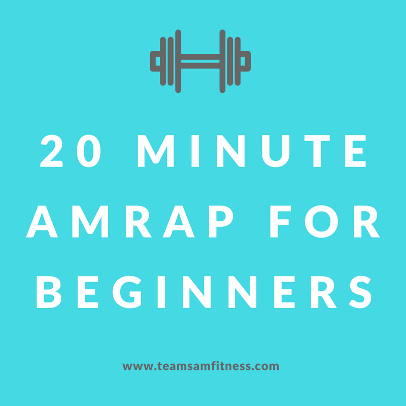 20 minute AMRAP for beginners ~ no equipment needed!