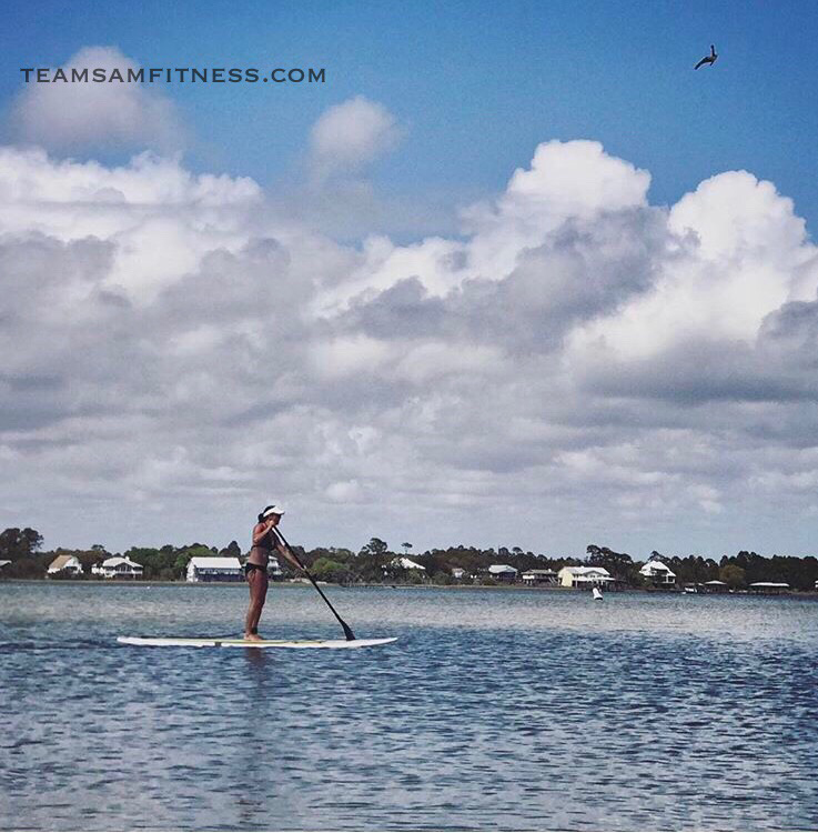 Paddleboard Gulf Shores Beaches in Alabama ~ TeamSam Fitness