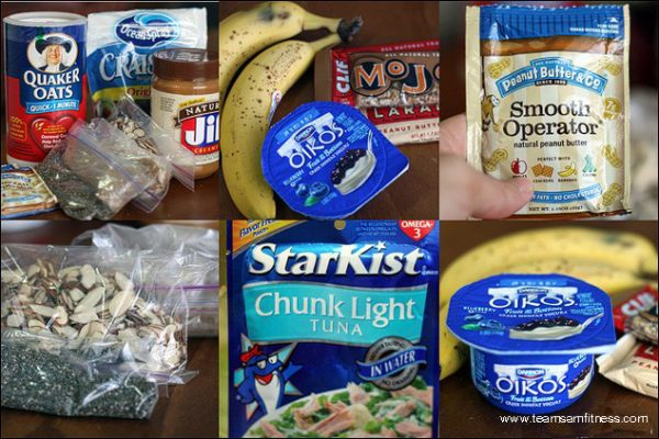 Pack your own food to stay healthy while traveling.